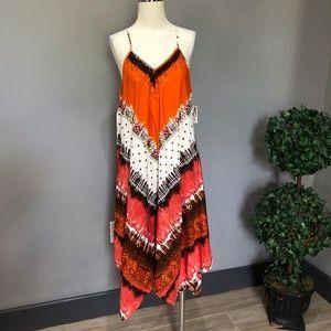 Mlle Gabrielle Waterfall Handkerchief Maxi Dress